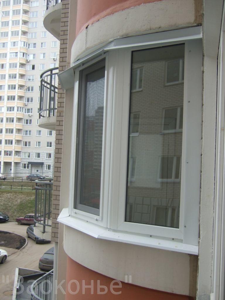 Остекление маленького балкона в дома м 111.